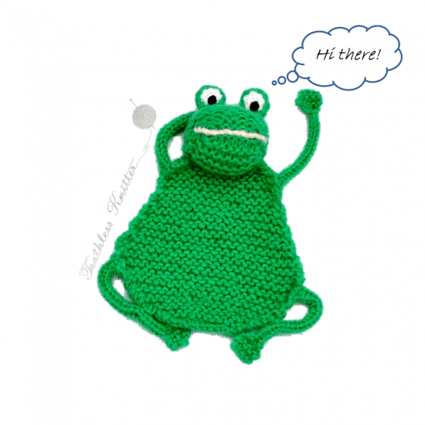 flat frog bookmark knitting pattern