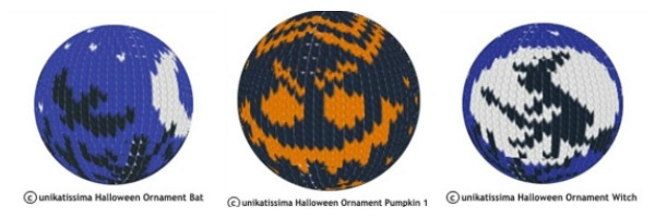 Knit Halloween balls for your Halloween tree.