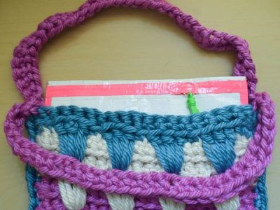 A Brilliant, Easy Way to Add a Liner to a Knit Purse