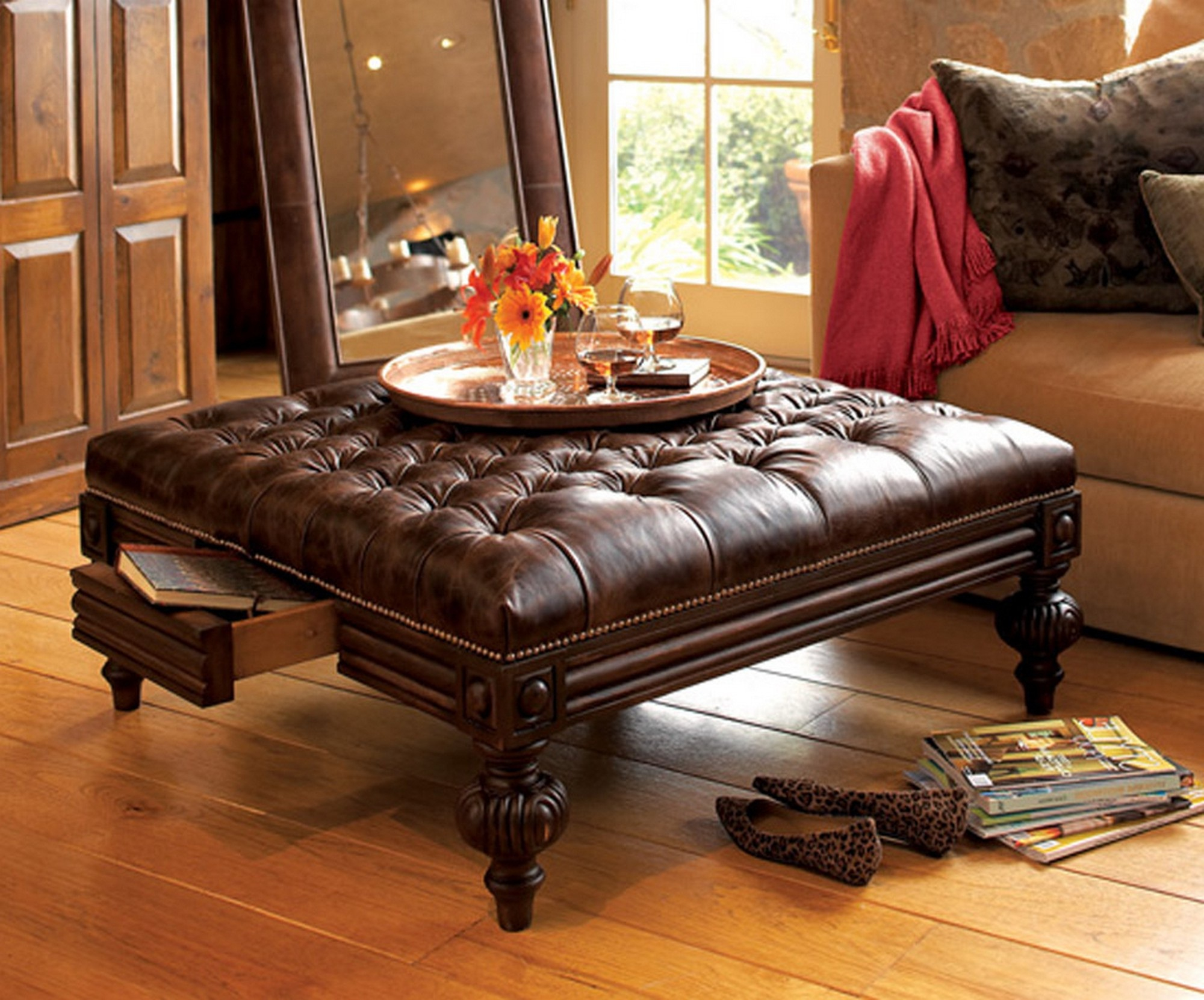 Lovable Storage Round Ottoman Coffee Table Walmart Large Round Ottoman Coffee Table Table Round Ottoman Tufted Large Round Ottoman Coffee Table Collections Coffee Tables Ideas Round Ottoman Coffee Tab houzz-03 Round Ottoman Coffee Table