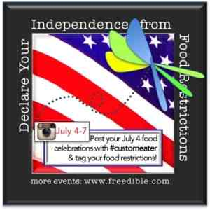 Freedible instagram party July 4-7