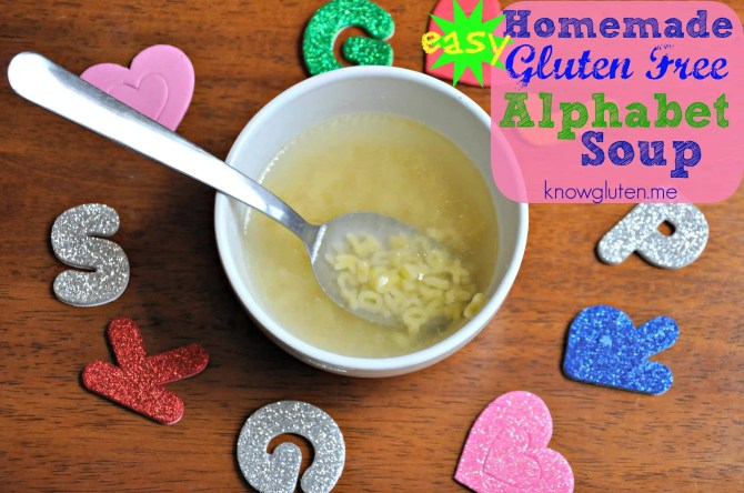 Easy Homemade Gluten Free Alphabet Soup from knowgluten.me - Homemade soup may take a little time on the stove, but it's super simple to make! Directions here!