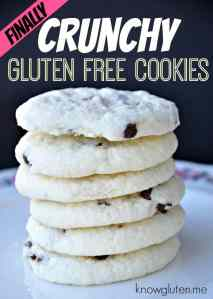 finally crunchy gluten free chocolate chip cookies from knowgluten.me