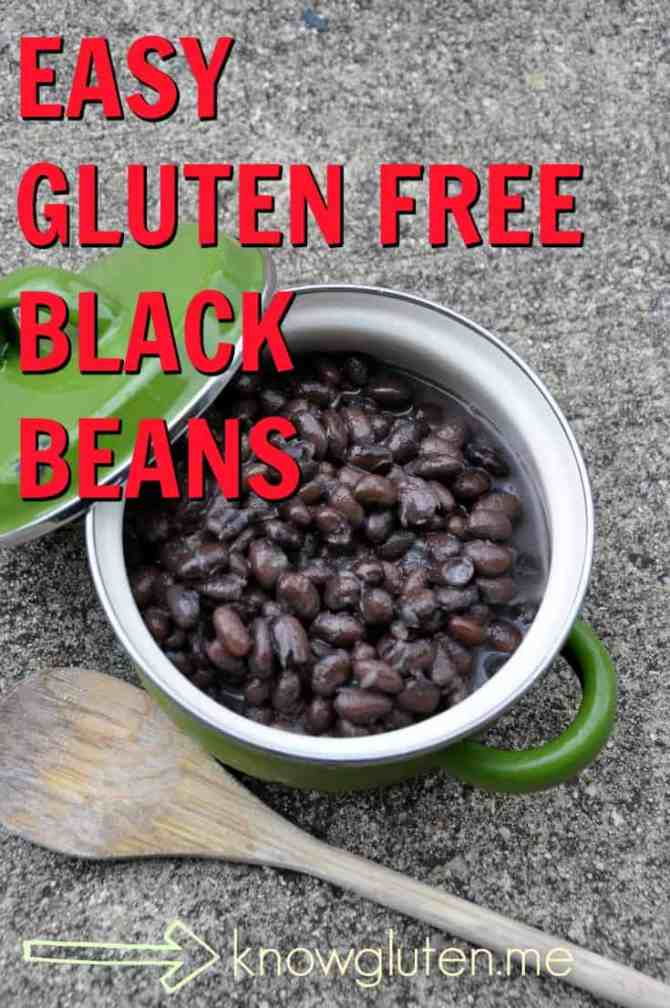 easy gluten free black beans - recipe from knowgluten.me - slow carb