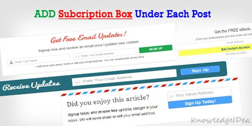 How To Add Email Subscription Box After Post Content