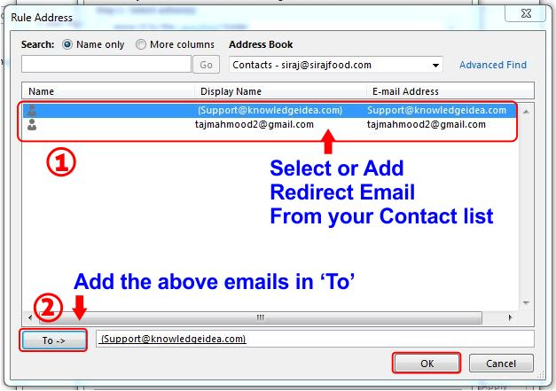 How To Redirect Outlook Emails To Another Email Address step 6