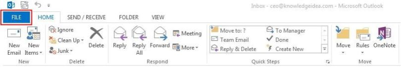 How to Export Outlook Contacts to Excel step 1