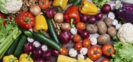 Range of organic food