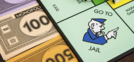 BOISE, IDAHO - NOVEMBER 18: The monopoly board game was first published by Parker Brothers, currently owned by Hasbro, in 1935
