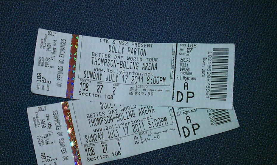 Tickets to Dolly's Better Day Concert Tour