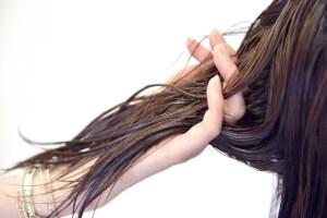 髪がバサバサ