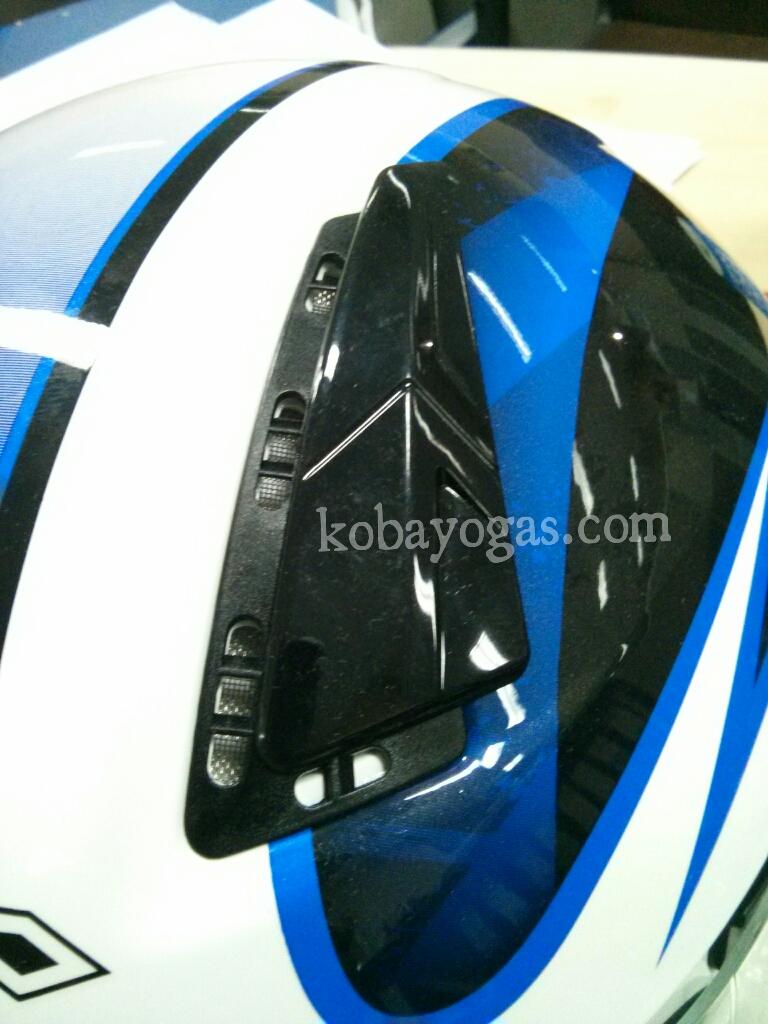 Review Helmet KBC V Zero White Blue