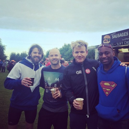 Gordon Ramsay, Danny Mills squad talk over a cuppa