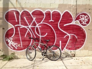 Graffiti red bicycle