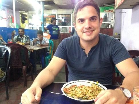 Lokaal eten in een rotishop