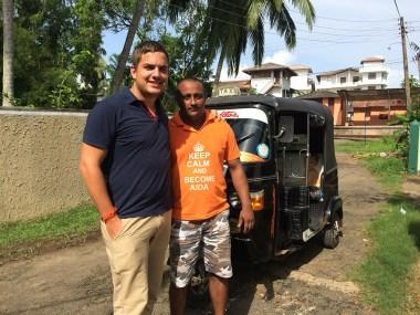 Met tuktuk chauffeur Ruwan