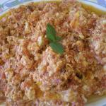 Revithia Giahni with Kafkalithres and Myronia (Stewed Chickpeas)