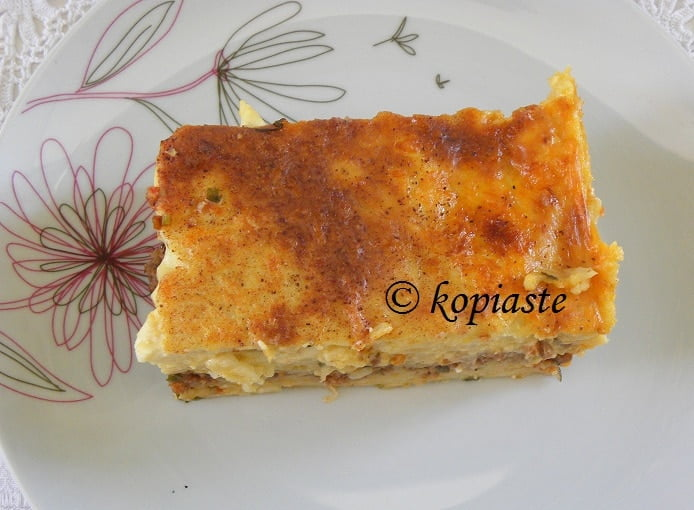 Pastitsio or Makaronia tou fournou 2