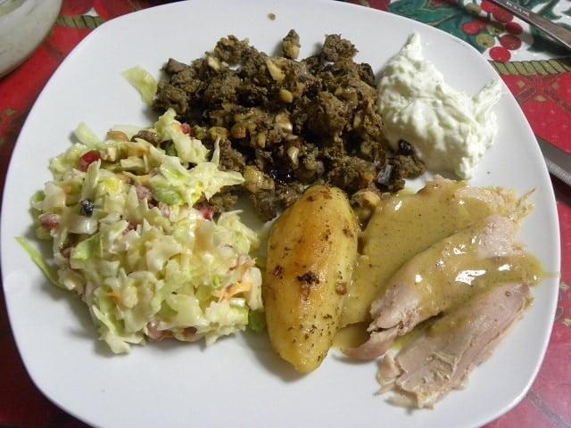 Turkey with gravy