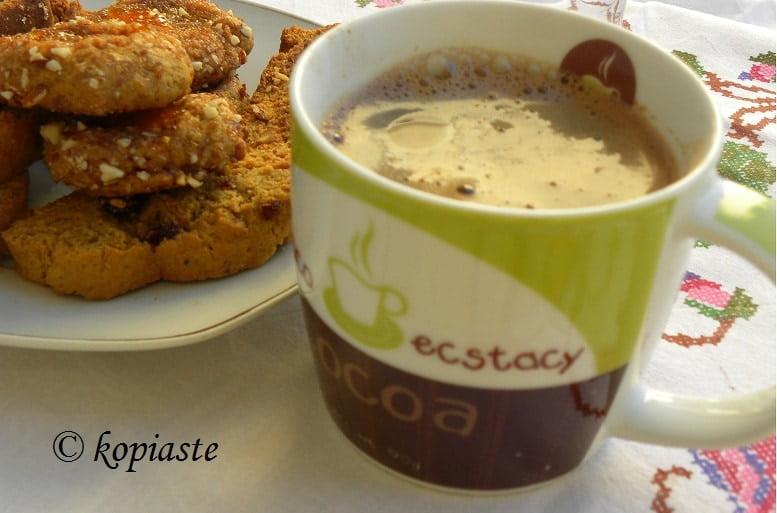 Greek coffee and mandarin biscotti