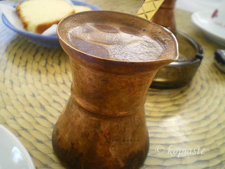 coffee in brass briki