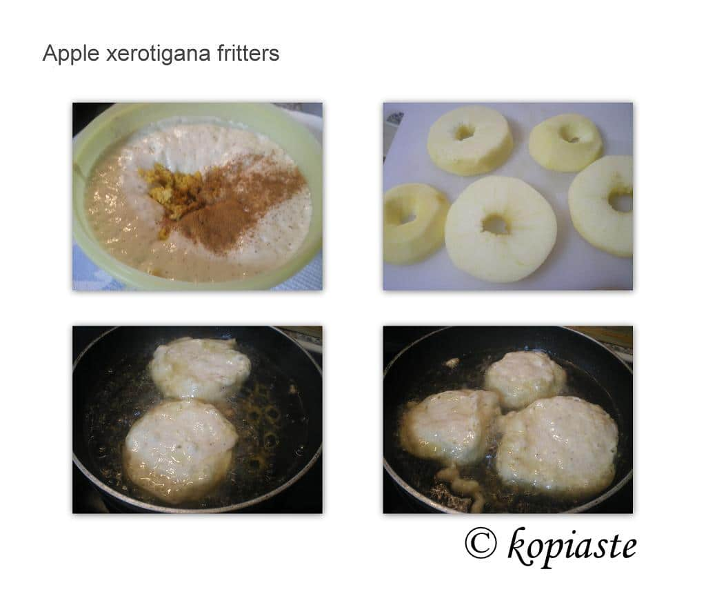 Collage Apple xerotigana fritters