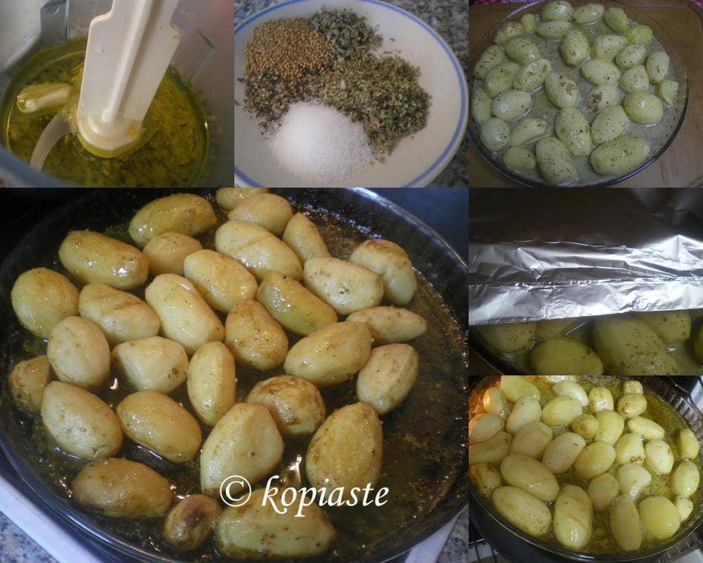 collage lemony potatoes