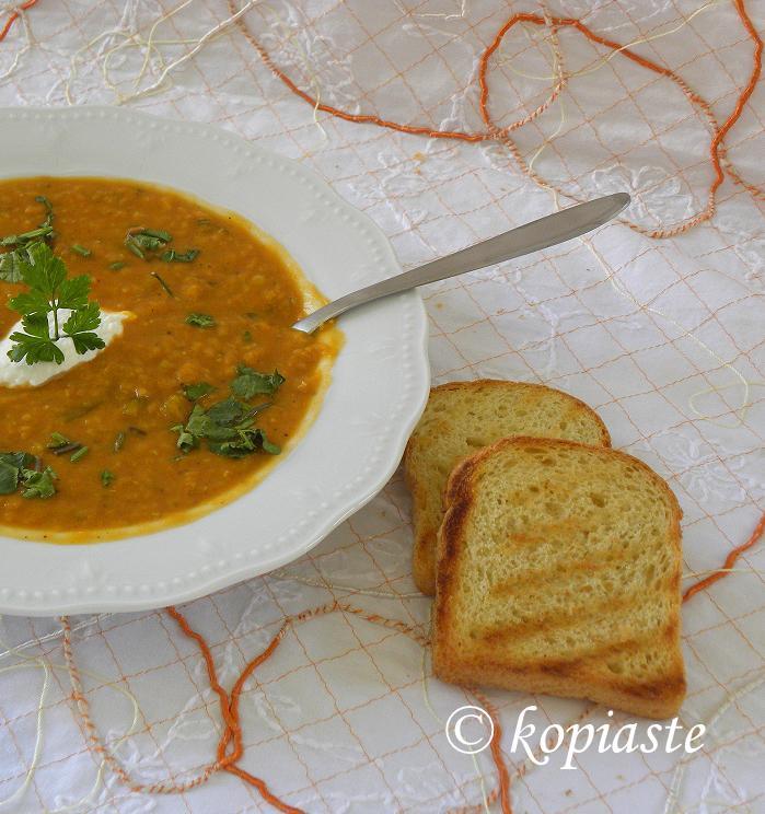 Red lentil Soup 3