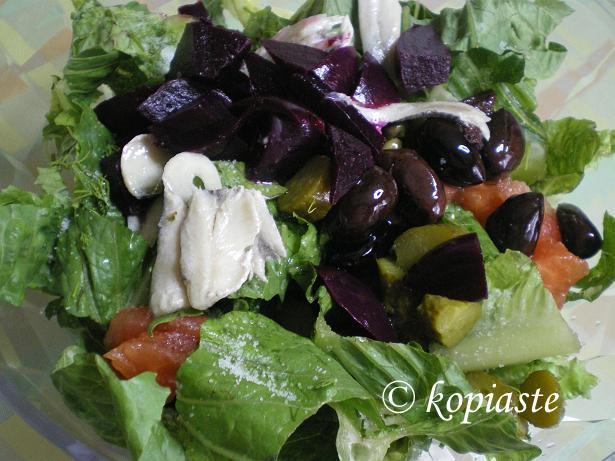 Salad with Pickles and Anchovies