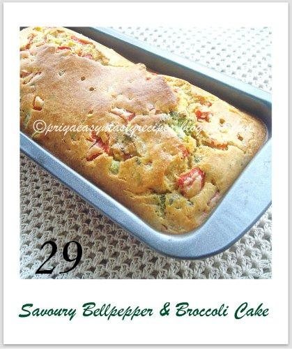 29 Savoury Bellpepper & Broccoli Cake, by Priya