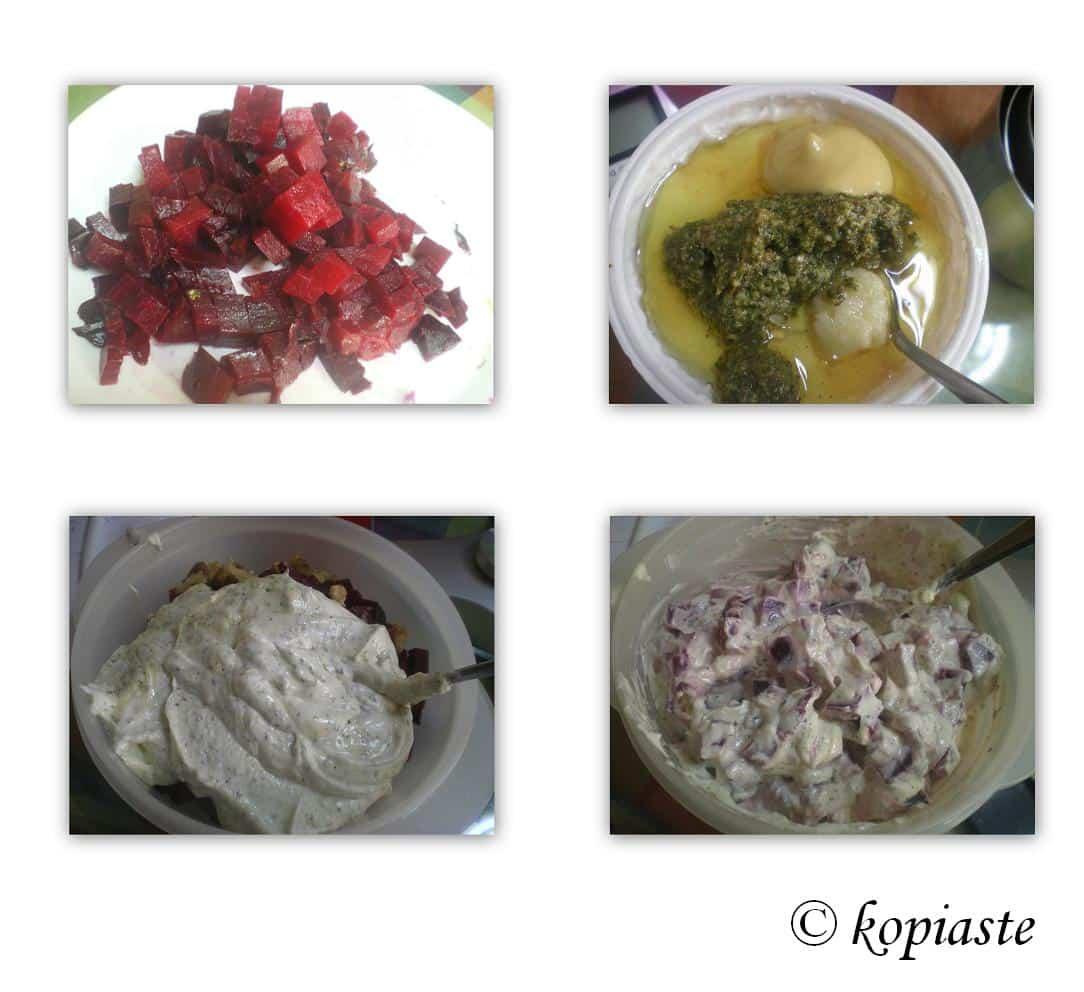 Collage Beetroot yoghurt salad