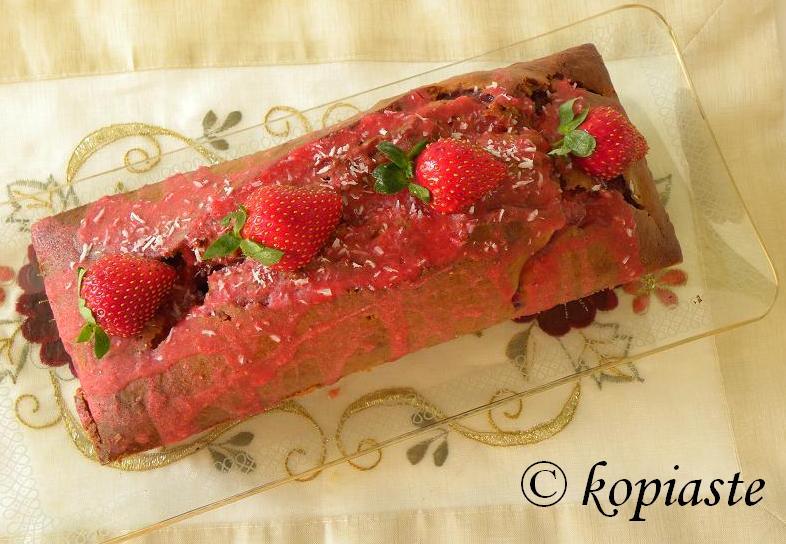 Strawberry Coconut Olive Oil Cake