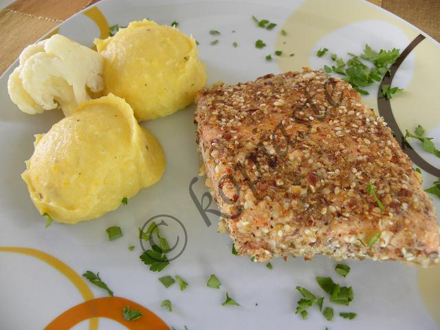 Pumpkin puree with Crusted Salmon 3 marked