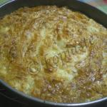 Fetes me Psomi kai Avgo (Greek Style Eggs in a Nest)