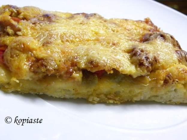 Spetzofai pizza