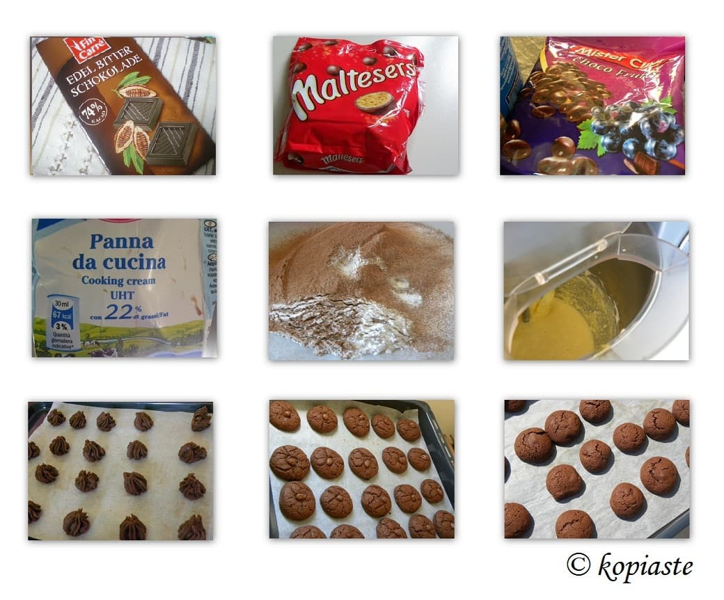 Collage chocolate cookies