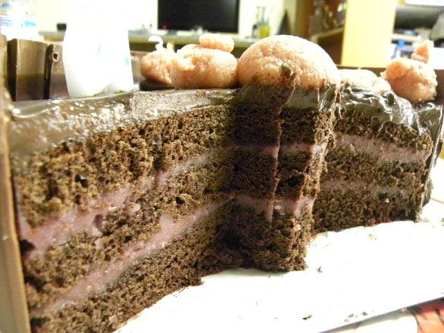 Mud Cake cut