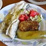 Lavraki Psito me Ladolemono Moustardas (Grilled Sea Bass with Mustard Ladolemono)