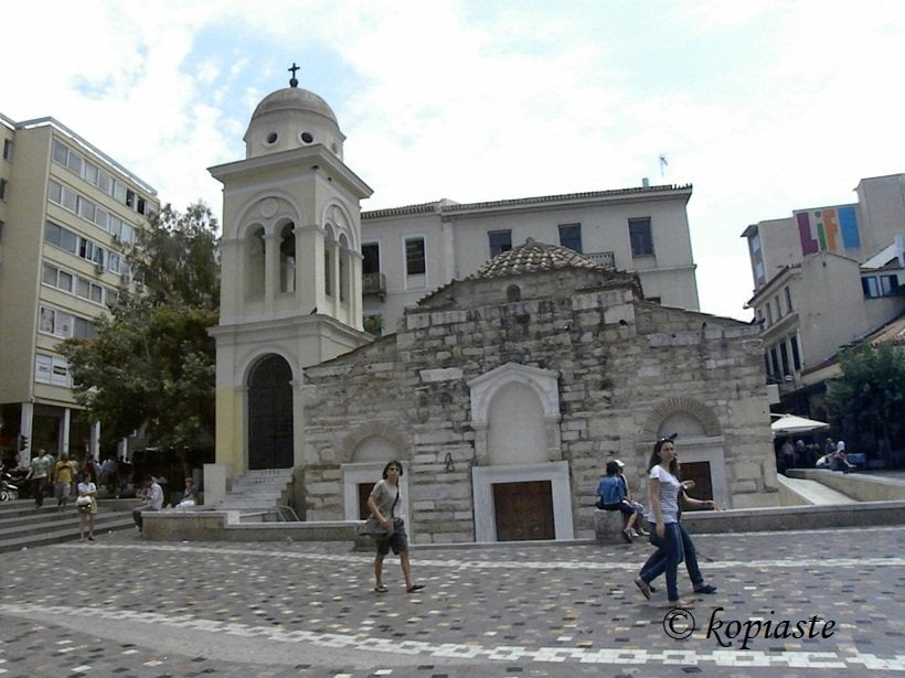 Monstiraki Square Pantanassa church