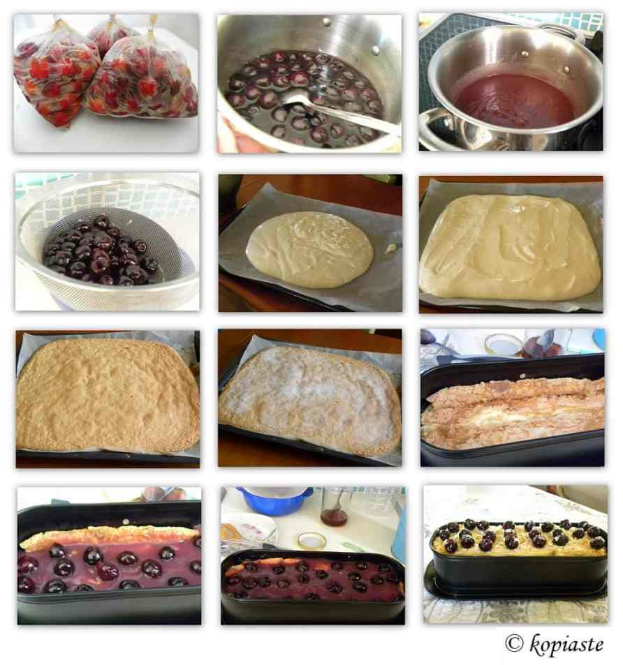 Collage Cherry Compote Cake
