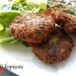 Fakokeftedes, Healthful Greek Lentil Burgers, with leftovers