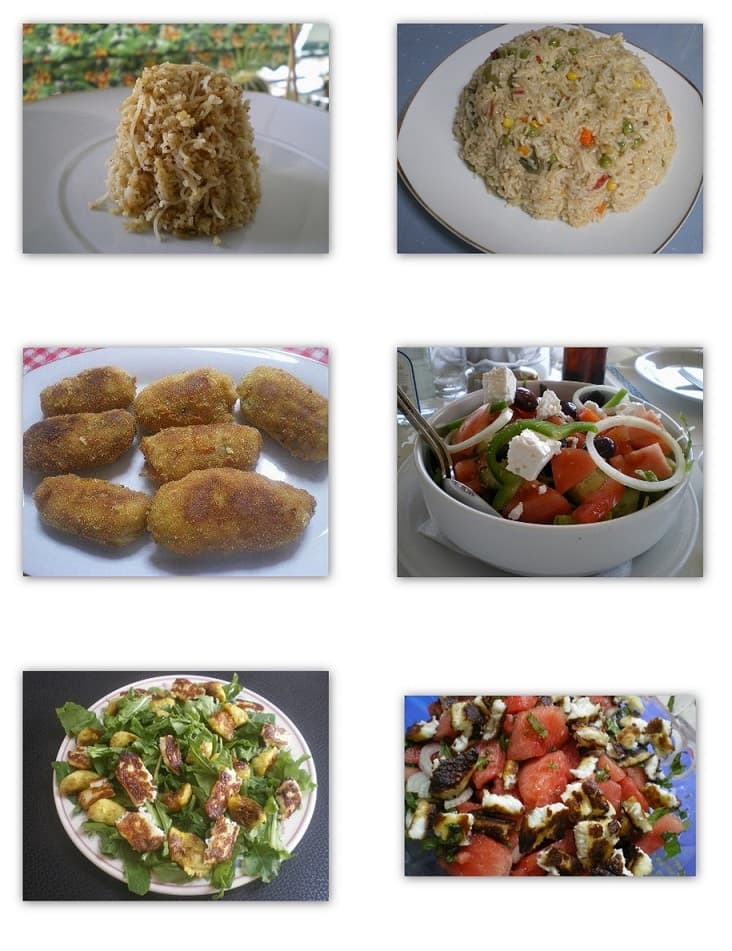 Collage salads and Sides