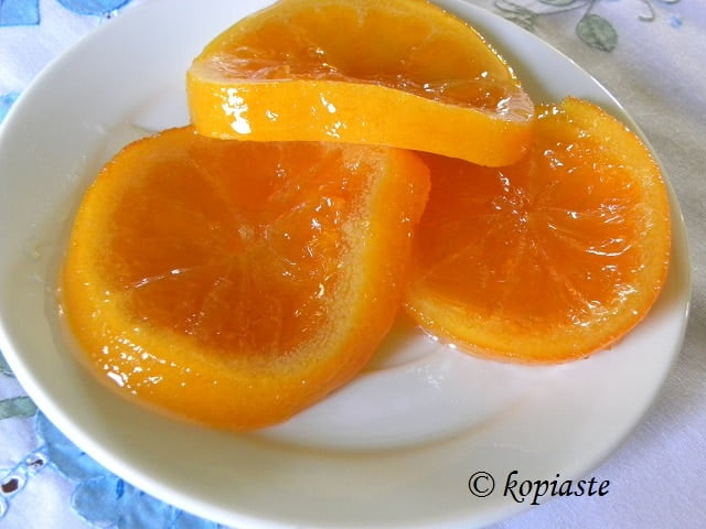 Orange fruit preserve