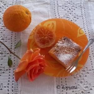 Galatopita with rose and orange