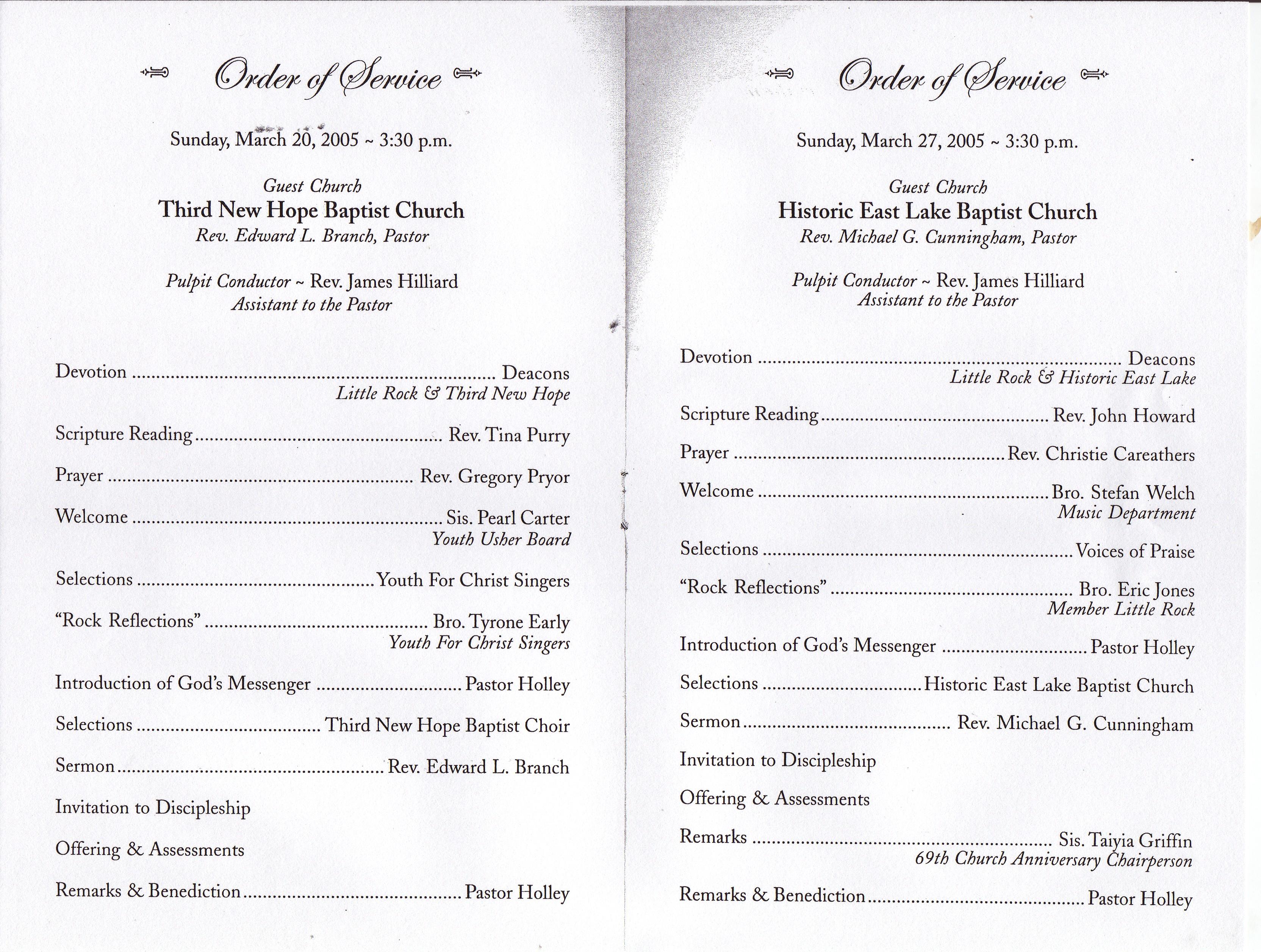 Black Church Anniversary Programs