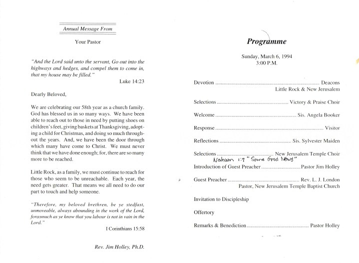 church anniversary programs templates