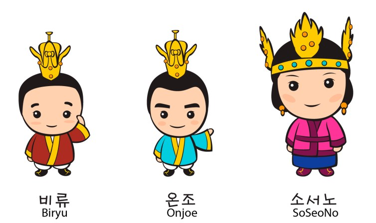 Founders of Baekje in 18 AD