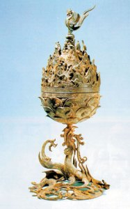 Gilt-bronze Incense Burner of Baekje