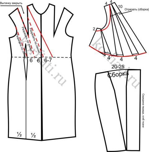 Моделирование передней половинки платья