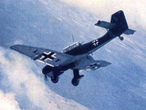 Sturzkampfbomber Stuka Ju-87, eingesetzt in Wielun